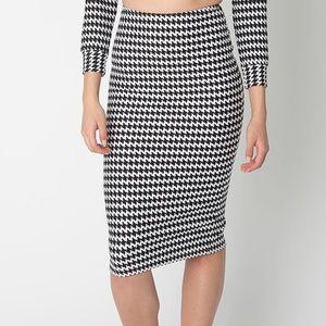 American Apparel Houndstooth Midi Pencil Skirt *NWOT*